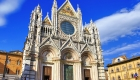 Beautiful medieval city in Tuscany Siena - view of  Duomo